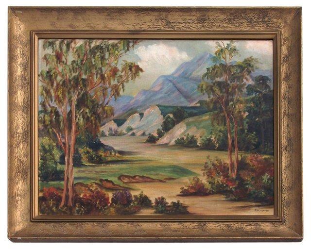 1940s California Landscape