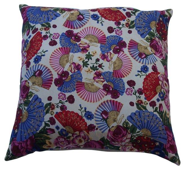Pillow w/ Oscar De La Renta Scarf