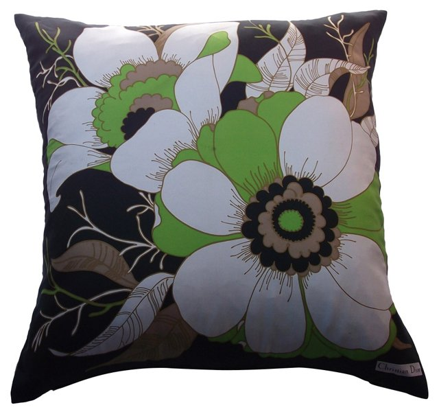 Dior Floral Scarf Pillow