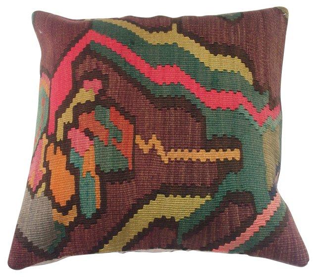 Turkish Kilim Floral   Pillow