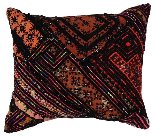 Orange Turkish Quilt Pillow