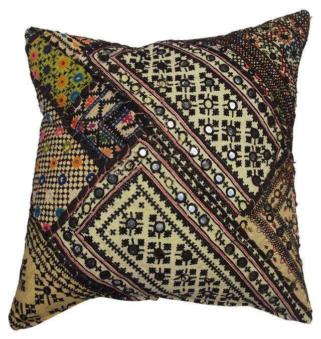 Yellow Turkish Quilt Pillow