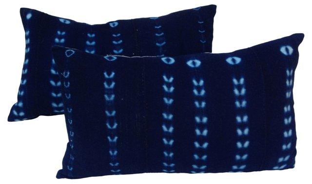African Indigo     Pillows,  Pair