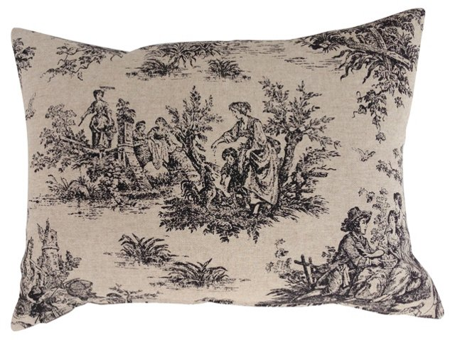 Country Weekend   Toile Pillow
