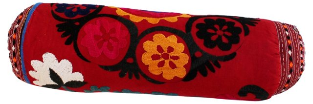Embroidered Suzani Floral  Bolster