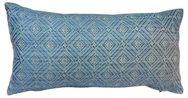 Woven Silk  Lumbar Pillow