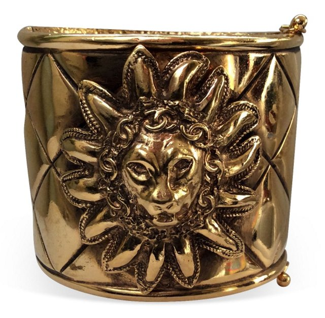 Chanel Lion Head Quilted Cuff