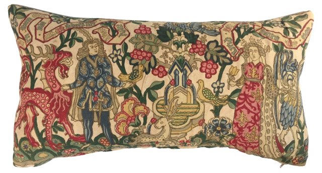 Gothic  French Tapestry  Pillow
