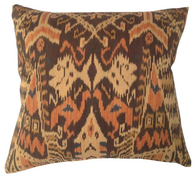 Tribal Ikat  Fish  Pillow