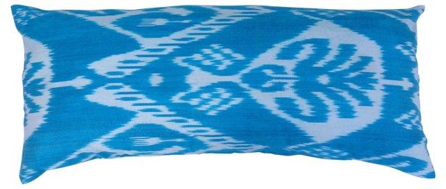 Turquoise Ikat Silk Body Pillow