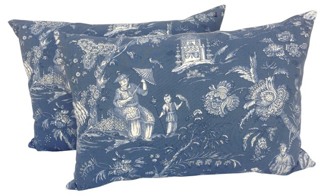 French Chinoiserie   Pillows, Pair