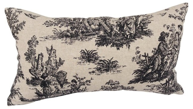 French Countryside Toile Pillow