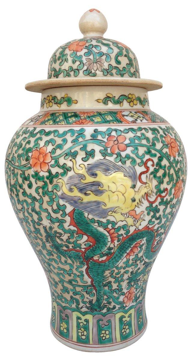 Chinese Dragon Ginger Jar