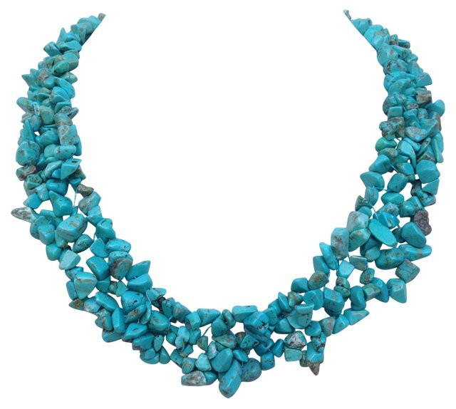 Turquoise Howlite 3-Strand Necklace