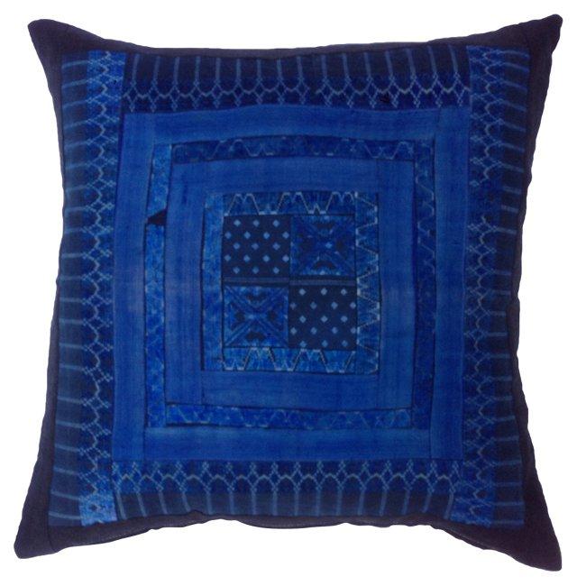 Silk Hill Tribe Indigo Pillow