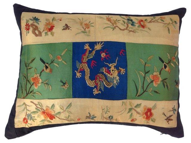Patchwork Silk Kimono  Pillow