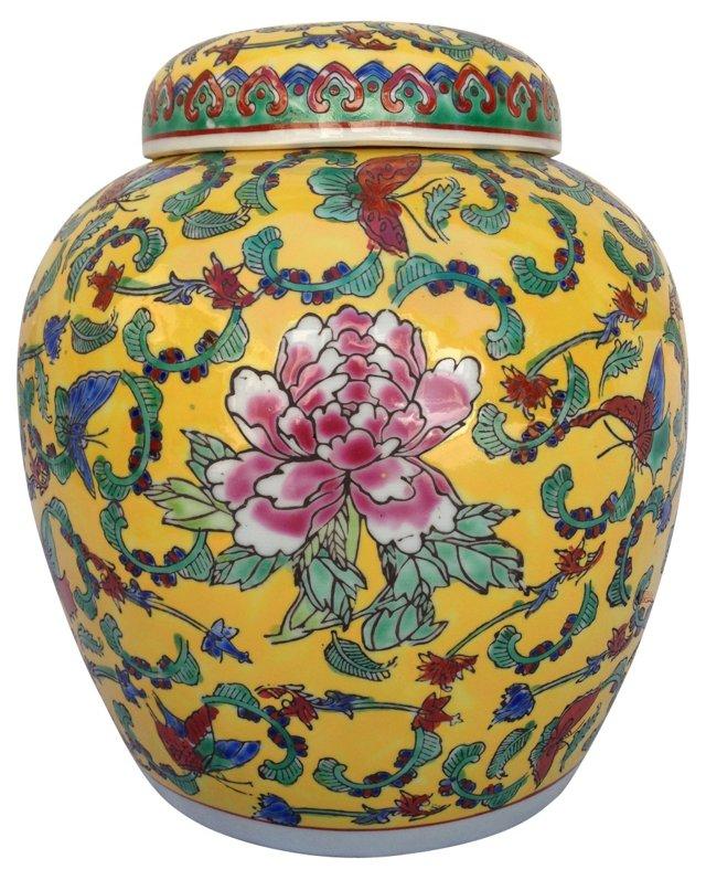 Chinese Butterflies Ginger  Jar
