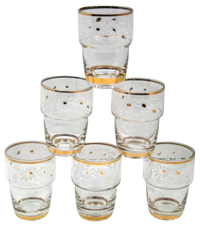 Crystal Shot Glasses, Set of 6