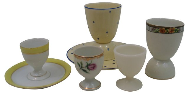 Collection of Egg Cups, Set of 5