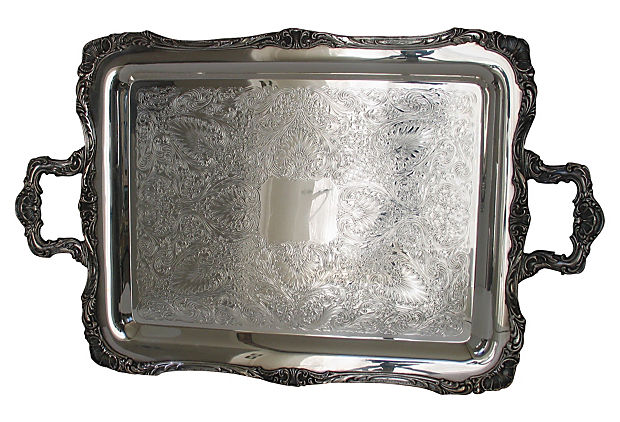 Handled Silverplate Tray