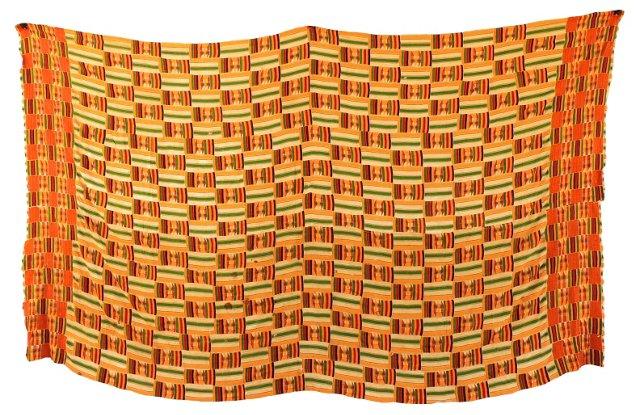 Handwoven Yellow Kente Cloth