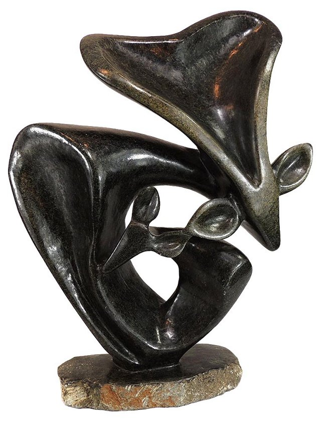 Mother & Child Impala Stone Sculpture