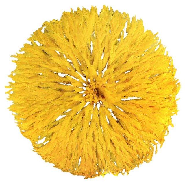 Yellow Bamileke Feather Headdress