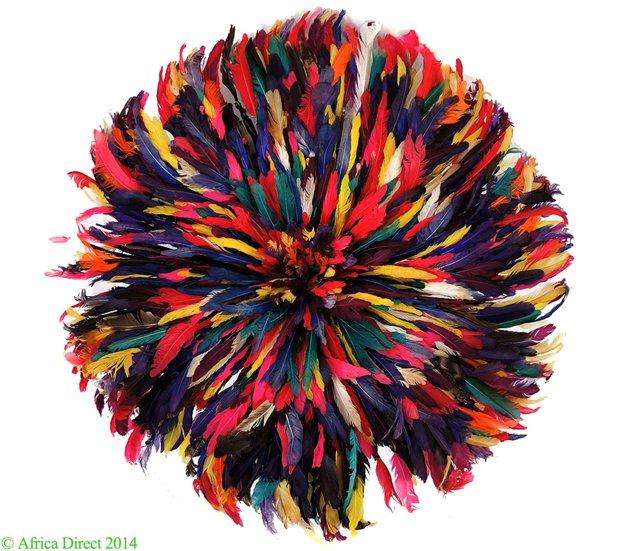 Multicolored Juju Feather Headdress