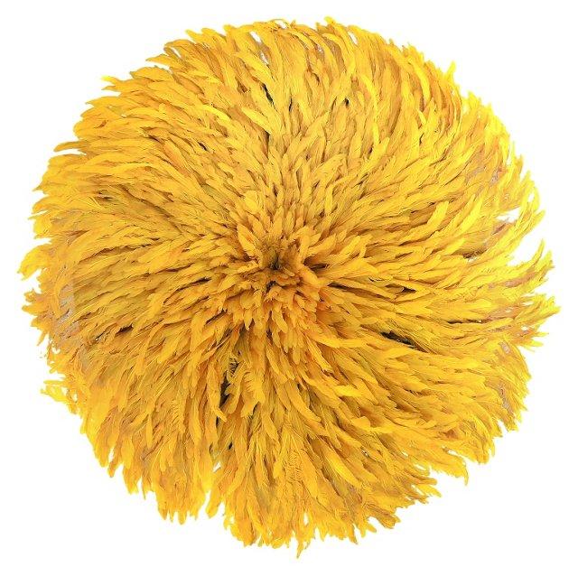 Yellow Juju Feather  Headdress
