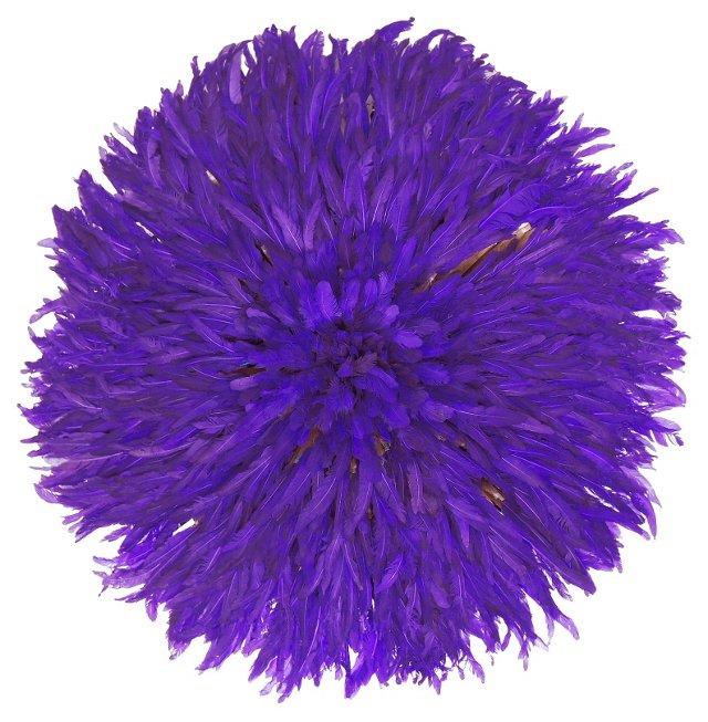 Purple Juju Feather  Headdress
