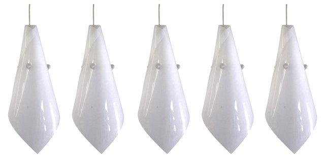 Resin Pendant Lights, Set of 5
