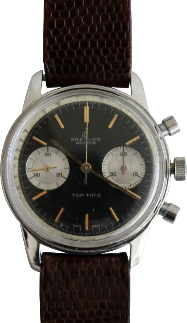 1960s Steel Breitling Top Time Watch