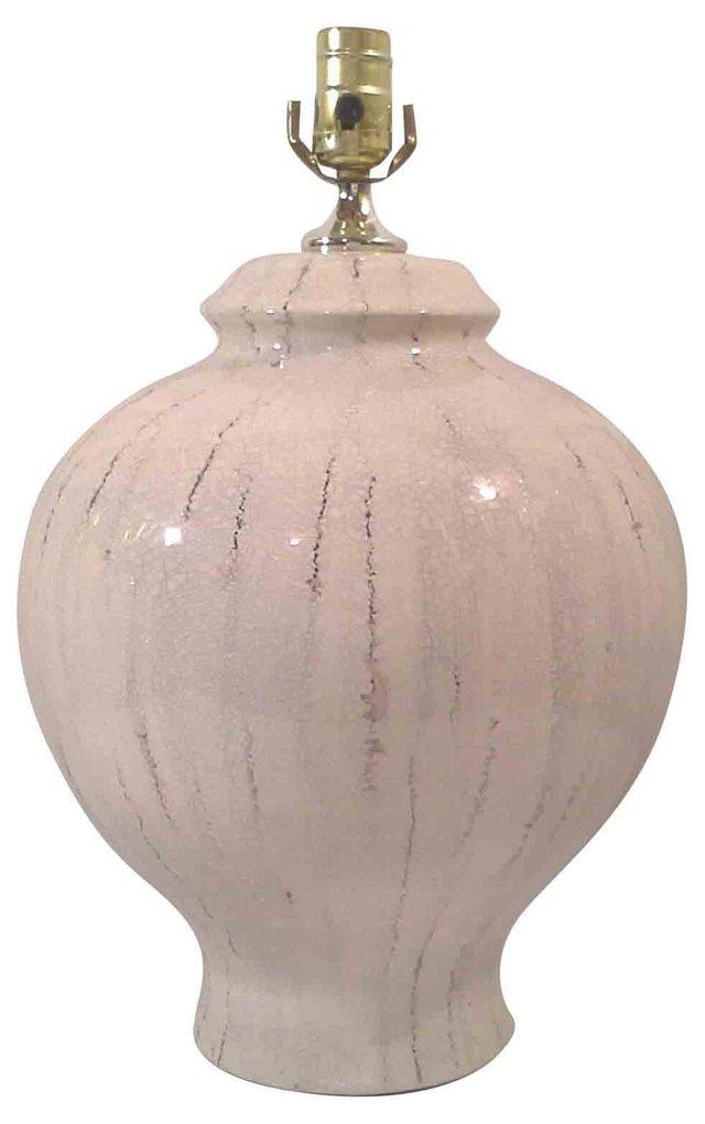 White Crackle Lamp