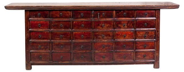 Antique 30-Drawer Apothecary Cabinet