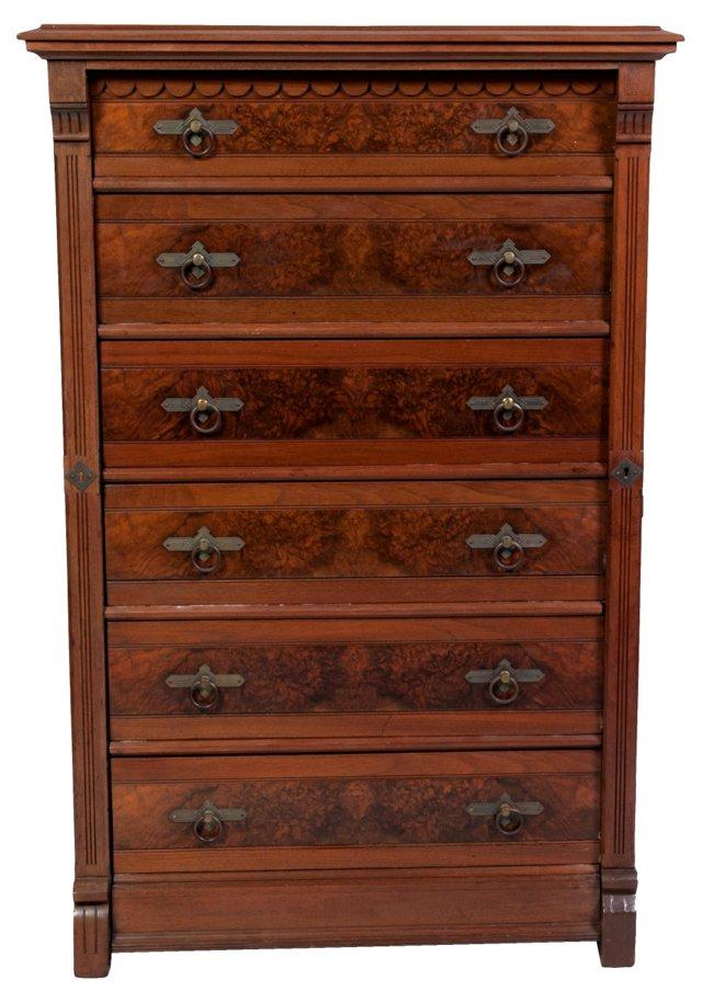19th-C. English Dresser w/ Desk