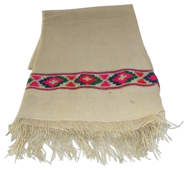 1950s Wool Throw From India