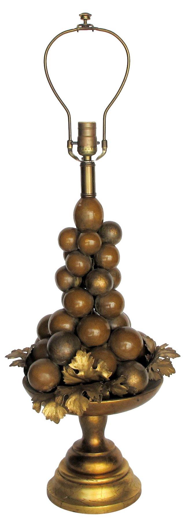 1960s Italian Fruit Lamp