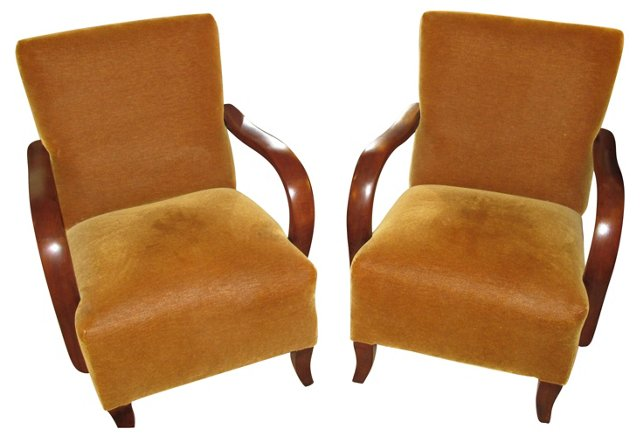 French  Armchairs By Thonet, Pair
