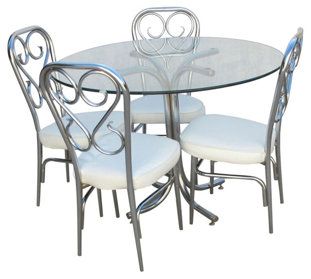1960s Chrome Table & 4 Chairs