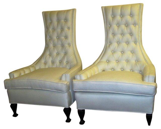 1960s Hollywood Regency Chairs, Pair