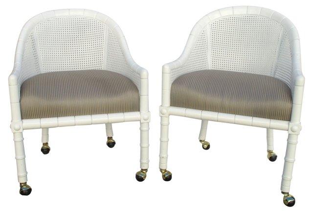 1960s John Widdicomb Chairs, Pair