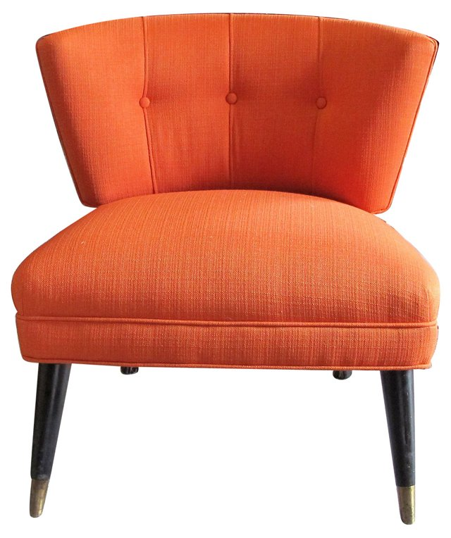 Billy Haines-Style Slipper Chair