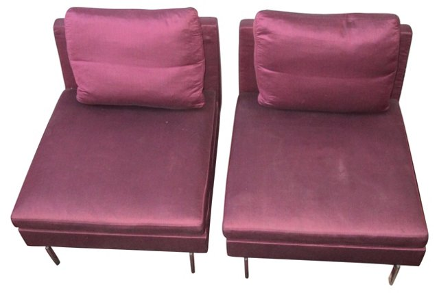 Ligne Roset Chairs, Pair
