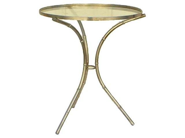 Metal Faux-Bamboo Side Table
