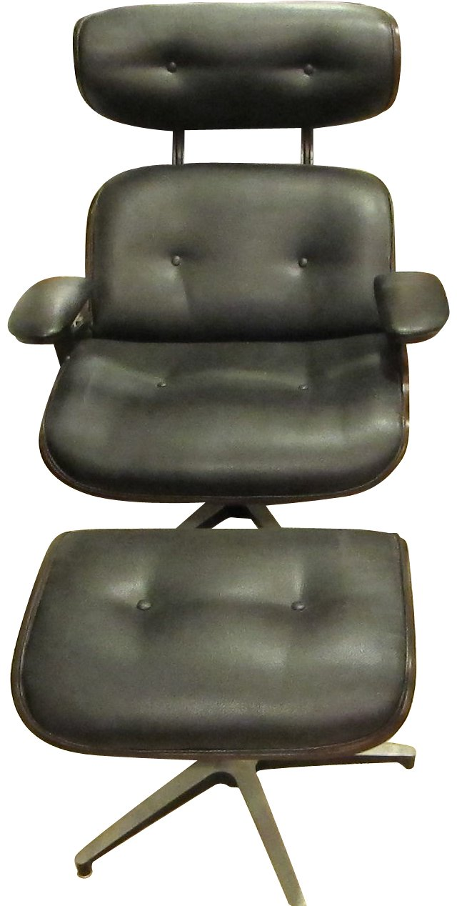 Stendig Leather Chair & Ottoman
