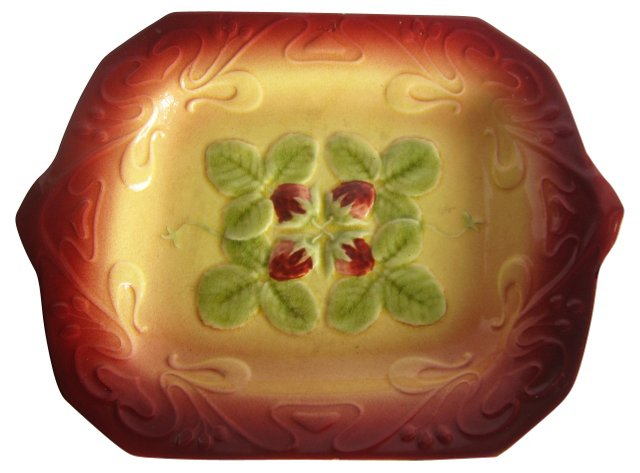 Majolica Strawberry Wall Platter