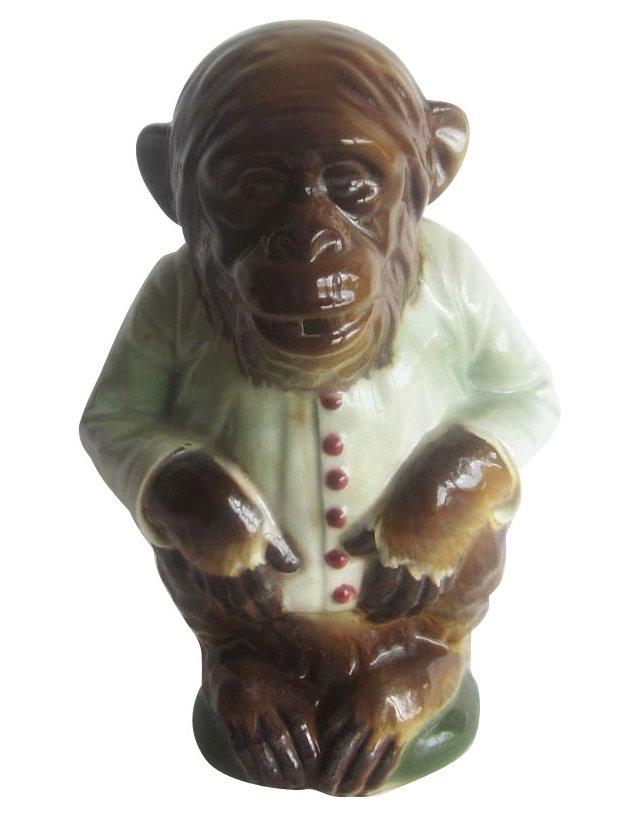 Majolica Monkey Pitcher