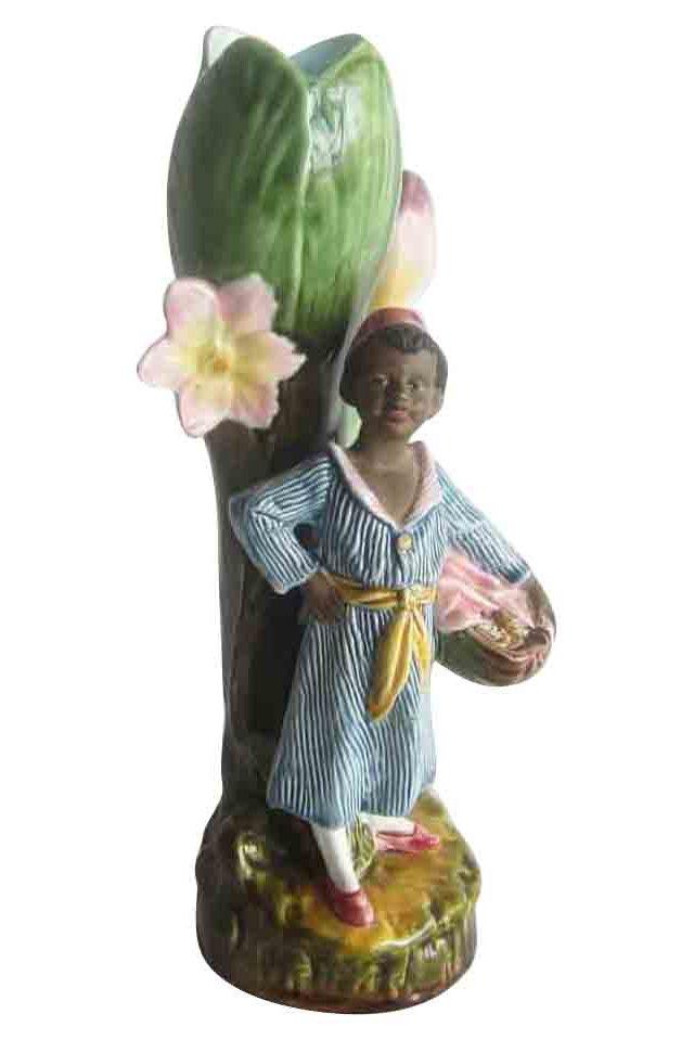 Majolica Child Vase