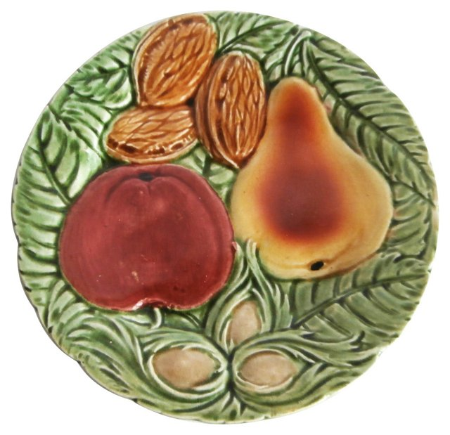 Majolica Nuts & Fruit Wall Plate