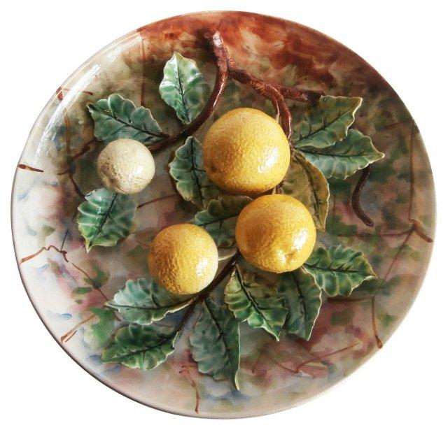 Majolica Grapefruit Wall Platter